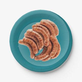 Yum! Sausage! Paper Plate