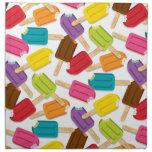 ¡Yum! Servilletas Set/4 - blanco del Popsicle
