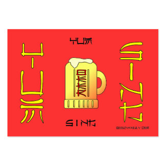 Yum Sing,Cantonese,For Cheers,Beer,Business Cards