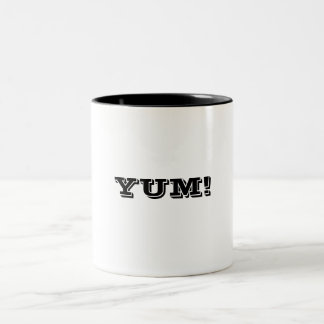 YUM! Two-Tone COFFEE MUG