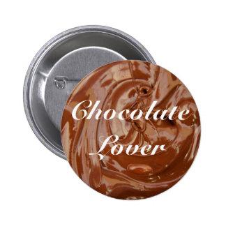 Yum Yum amantes del chocolate Pin Redondo De 2 Pulgadas