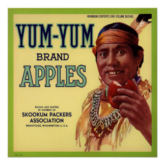 YUM YUM BRAND APPLES VINTAGE CRATE LABEL POSTER