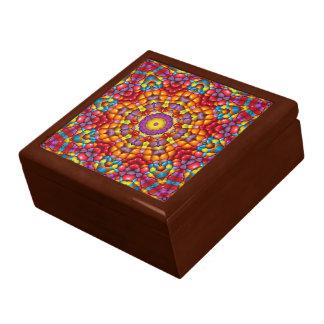 Yum Yum caja de regalo colorida deliciosa de la Joyero Cuadrado Grande