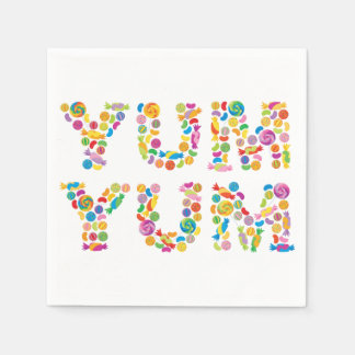 Yum Yum Candy Sweets Paper Napkins