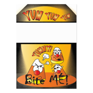 Yum, Yum Candycorn Gift Tag Large Business Card