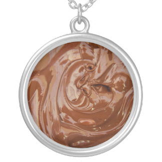 Yum Yum Chocolate Lovers Silver Plated Necklace