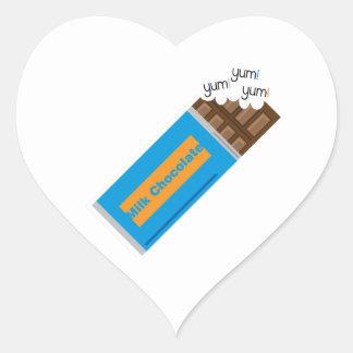 Yum Yum Chocolate Heart Sticker
