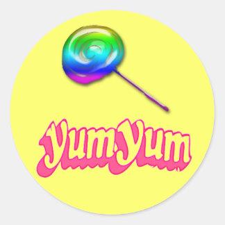 Yum Yum Classic Round Sticker