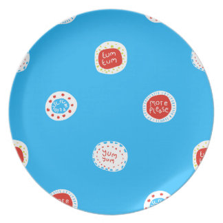 yum Yum Melamine Plate
