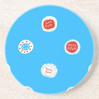 yum Yum Sandstone Coaster