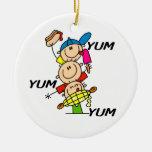 Yum Yum Summer Double-Sided Ceramic Round Christmas Ornament