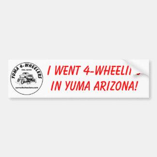 Yuma 4-Wheelers Bumper Sticker