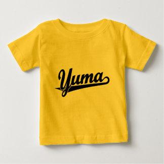 Yuma script logo in black baby T-Shirt