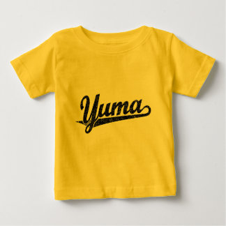 Yuma script logo in black distressed baby T-Shirt