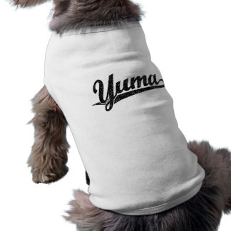 Yuma script logo in black distressed T-Shirt