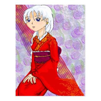 Yumes Red Kimino Postcard