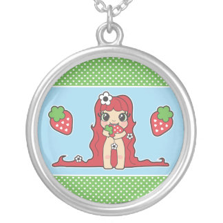 Yumi Doll - Strawberry Silver Plated Necklace