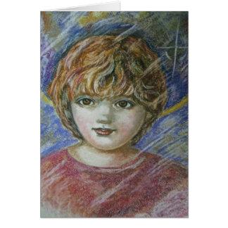 Yumi Sugai. A boy. Card