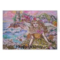 yumi sugai  angels,Happy birthday. Card