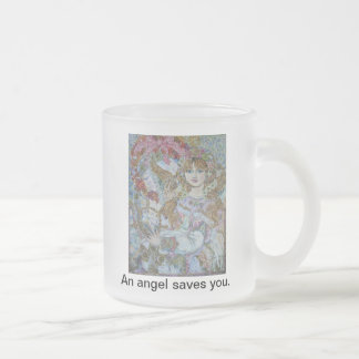 Yumi sugai  angels.The angel of the pink Christmas Coffee Mugs