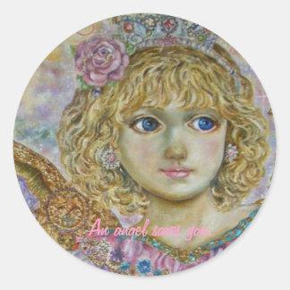 yumi Sugai. The angel of the key to heaven. Classic Round Sticker