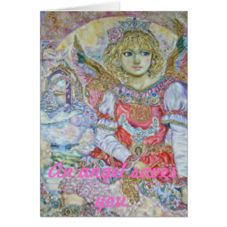 Yumi Sugai. The angel of the key to kingdom of hea Greeting Card