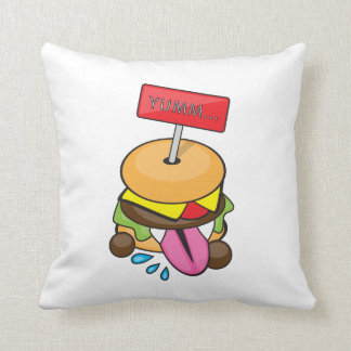 Yumm Burger Pillow