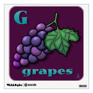 Yummy Alphabet - G Wall Sticker