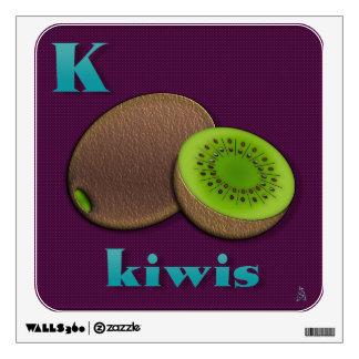 Yummy Alphabet - K Wall Sticker
