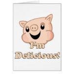 Yummy Bacon Greeting Card
