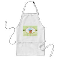 Yummy Bakery Cupcake Logo in Green Business Aprons apron