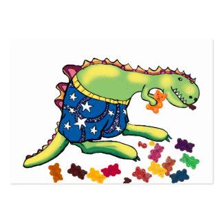 Yummy bears - dinosaur midnight snack large business card