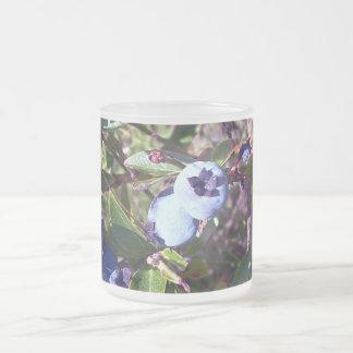 Yummy Blueberries 10 Oz Frosted Glass Coffee Mug