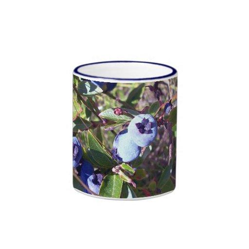 Yummy Blueberries Ringer Mug