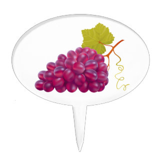 Yummy Bunch Of Red Grapes Cake Topper