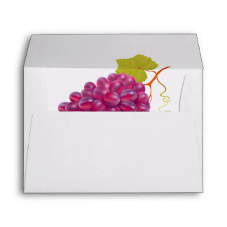 Yummy Bunch Of Red Grapes Envelope
