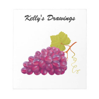 Yummy Bunch Of Red Grapes Notepad