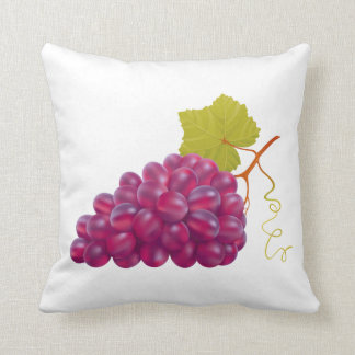 Yummy Bunch Of Red Grapes Throw Pillow