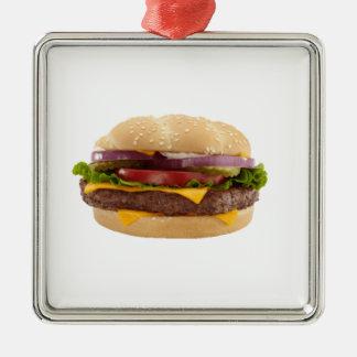 Yummy Burger Metal Ornament