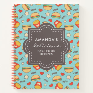 Yummy Burgers & Fries | Fast Food Recipes Notebook