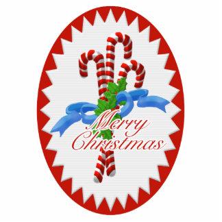 Yummy Candy Cane Christmas Ornament Photo Cutout