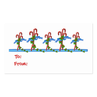 Yummy Candy Cane Lane Christmas Gift Tags - Busine Business Card