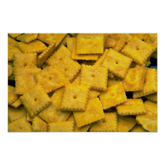 Yummy Cheese crackers Poster