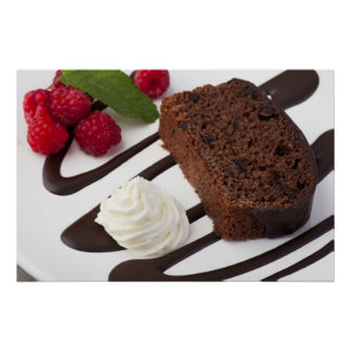Yummy Chocolate Cake Print