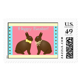 Yummy Chocolate Easter Bunnies Postage Stamps