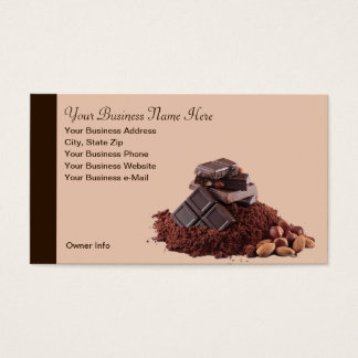 Yummy Chocolate Theme Professional Business Card