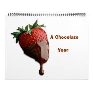 YUMMY CHOCOLATE  YEAR CALENDA CALENDAR