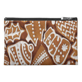 Yummy Christmas Holiday Gingerbread Cookies Travel Accessory Bags