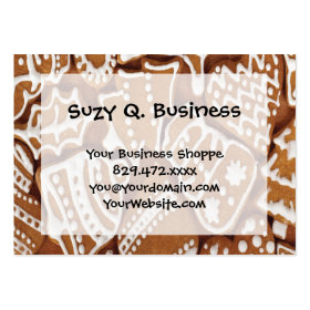 Yummy Christmas Holiday Gingerbread Cookies Business Card Template