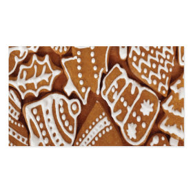 Yummy Christmas Holiday Gingerbread Cookies Business Card Templates
